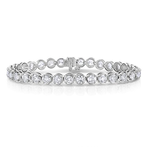 8 CT I1-I2 IGI Certified Diamond Bracelet Tennis 14K White Gold (H-I) by Vir Jewels