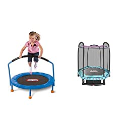 Little Tikes 3' Trampoline and 7' Enclosed Trampoline with Safety Net