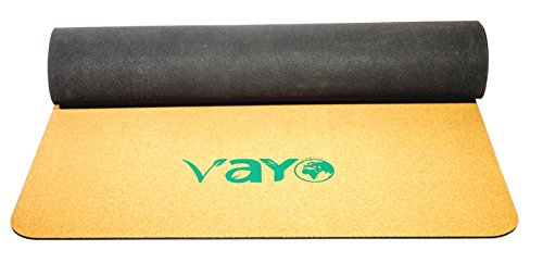CORK & NATURAL RUBBER YOGA MAT has a plush, padded feel with the cushion you only get from natural rubber and cork from real trees harvested from renewable groves in the tropics. Size:183cm61cm4mm.