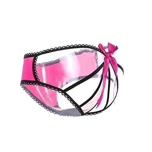 Vivly Bodas Women's Sexy Cheeky Panties Bow Cage Back Underwear XXL (Bow Cheeky Panty)