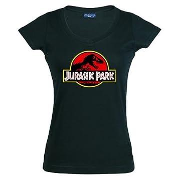 Camiseta de chica Jurassic Park logo clásico negra: Amazon.es: Deportes y aire libre