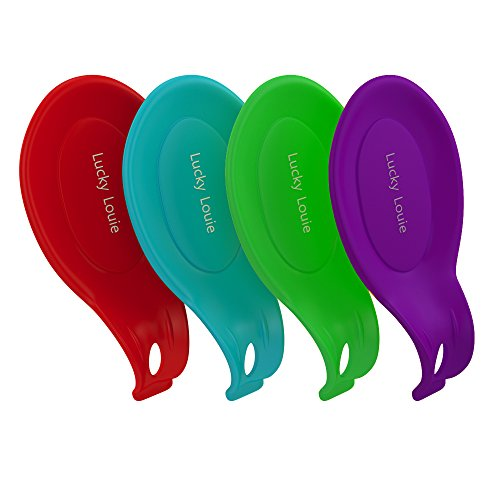 itchen Silicone Dishwasher Safe 4 - Pack by Lucky Louie (Dishwasher Safe Silicone Spoon Rest)