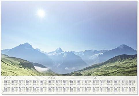 SIGEL HO471 Papier-Schreibunterlage zum Abreißen mit Kalender, ca. DIN A2 - extra groß, 30 Blatt, Bergmotiv