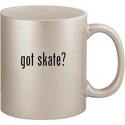 Line Gloves In Hockey (got skate? - 11oz Ceramic Coffee Mug Cup, Silver)