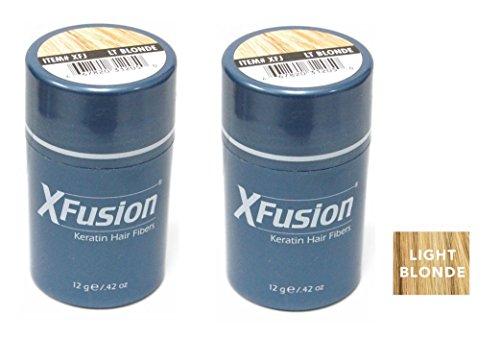 - Xfusion Keratin Hair Fibers,Two Pack Value 2 x 12 gr/0.42 oz LIGHT BLONDE