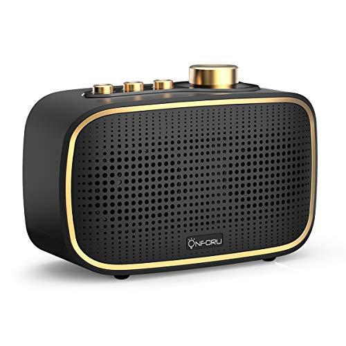 Onforu Altavoz Portatil Bluetooth Vintage, Altavoz Inalámbrico Retro con 20 Horas de Reproducción, 20w Audio IPX5…