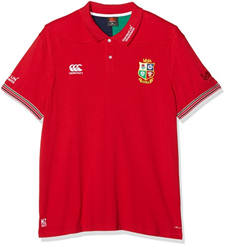 Irish Lions Rugby - Canterbury British And Irish Lions Cotton Pique Training Polo Shirt - AW16 - Medium - Red