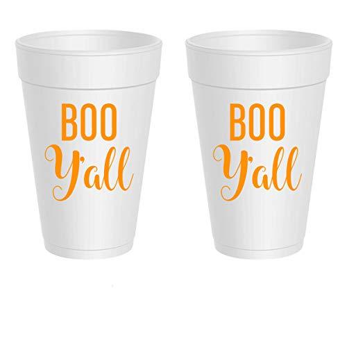 Halloween Styrofoam Cups - Boo Y'all (10 cups)