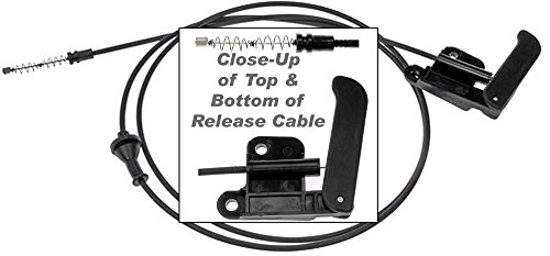 APDTY 023185 Hood Release Cable with Handle For 2002-2004 Chevy S10 Pickup / 2002-2005 Chevy S10 Blazer / 2002-2004 GMC S15 Sonoma Pickup (Replaces GM Part #: (Pickup Hood Release Cable)