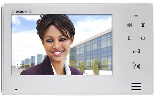 Image of Aiphone Corporation JO-1FD Expansion Monitor for JO Series, Flame Resistant ABS Resin, 5-1/8' x 9-1/16' x 13/16', White