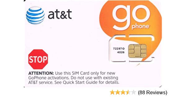 ATT Wireless GO Phone SIM Card 3G 2G / Edge