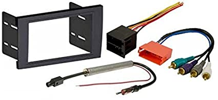 amazon com aftermarket radio stereo installation double din dash Audi A4 Custom aftermarket radio stereo installation double din dash kit mount trim bezel for select audi a4 and