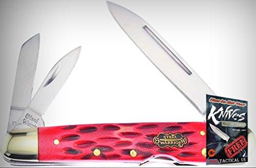 Frost SW116DRWJ Lockback Whittler Mirror Finish Folding Limited Elite Knife 3 Blades Folder + free eBook by (3 Blade Whittler Knife)