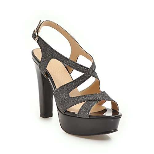 dei alti sandali tacchi alla signore sandali e dei ai impermeabile i sandali con 36 moda sandali black tavoli sandali Fw8qCF
