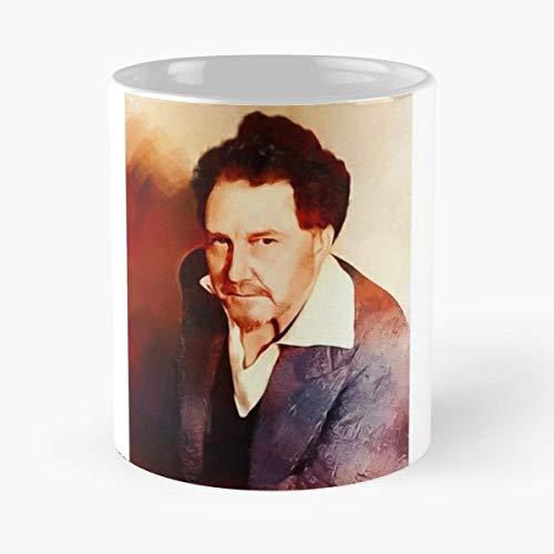 Ezra Pound Author Writer - Morning Coffee Mug Ceramic Novelty Holiday 11 Oz (Ezra Pound Best Poems)