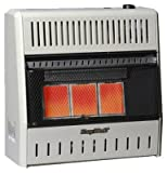 Kozy World KWN191 18,000-BTU Vent-Free Natural-Gas Infrared Wall Heater