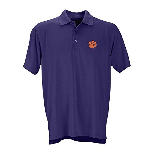 Elite Fan Shop Clemson Tigers Performance Polo Purple - M ()