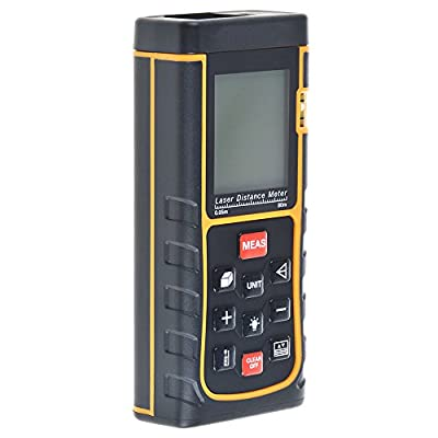 Flashmen® 80m (262 Feet) Portable Laser Distance Measurer with Distance & Angle Measurement , Area & Volume Calculation; Range Finder with Min/in/ft , Tape Measure 0.05 to 80m