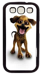 Happy Puppy PC Case Cover For Samsung Galaxy S3 SIII I9300 Black