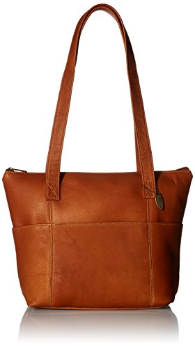 David King & Co. Top Zip Shopping Tote 543, Tan, One Size Tote Top Zip Handbag