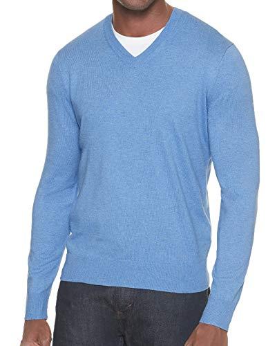 (Banana Republic Men's Premium V-Neck Sweater (Light Blue, S))