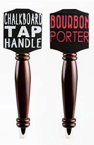 Chalkboard Tap Handle For The Draft Beer Lover's Kegerator or Bar (Dark - 2 Pack ()