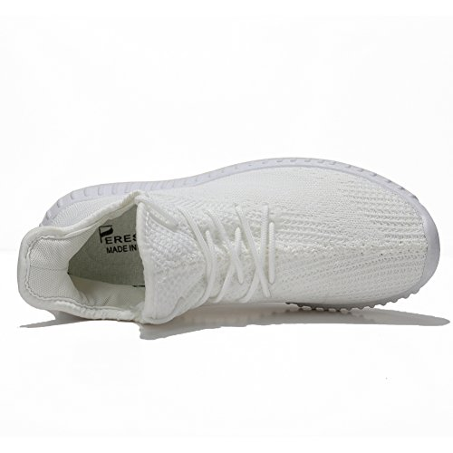 Unisex Breathable Athletic Sport Shoes Cross Trainers Fashion Sneakers for Walking Running Gym Pure White US Women Size 8/ US Men Size 7 by fereshte (Image #2)