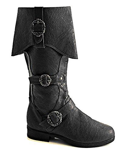 Steampunk Western Medieval Renaissance Ringmaster Cosplay Cowboy Halloween Mens Boots (Medium (Mens Renaissance Boots)
