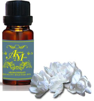 Jasmine Premium Absolute Dilute Essential Oil 10% (India) (Jasminum grandiflorum) (Floral Scent) 100 ml (3 1/3 Fl Oz) Premium (Juniper Scented Eau De Toilette)