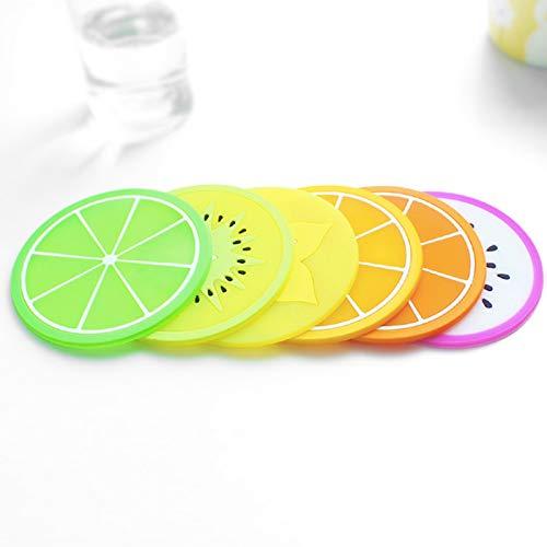 Vistaric Practical Harajuku Fruit Sharp Antiskid Heat Insulation Teacup Pad Creative Home Kitchen Bottle Mats: ()