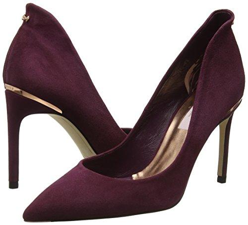 Cerrada Ted Para Savio Tacón De Con Punta Rojo Mujer burgundy Zapatos Baker HHwrq80