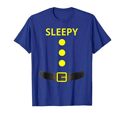 Sleepy Dwarf Halloween Costume Olive Shirt -