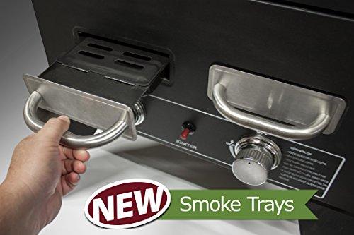"Smoke Hollow PS4415 Propane Smoker, 33"" x 24.5"" x 60"", Black"