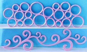 JEM Cutters Bubble Frieze & Scroll Cutter Set