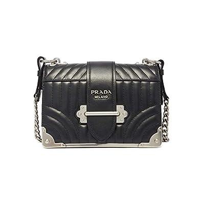 e41b64e005e9 Amazon | PRADA CAHIER SHOULDER BAG ショルダーバッグ 1BD0452D91 レディース NERO F0002  ブラック プラダ [並行輸入品] | PRADA(プラダ) | ショルダーバッグ