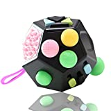 VCOSTORE 12 Sides Fidget Cube, Stress and Anxiety Relief for All Ages with ADHD ADD OCD Autism
