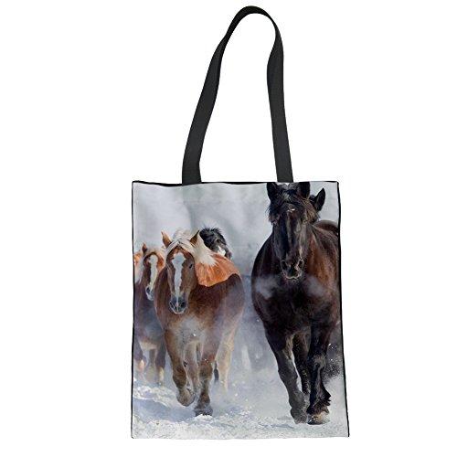 Advocator Stylish Print Mädchen Tragetaschen für Schule Durable Canvas Shopper Taschen Strandtasche Color-7 zVELVA