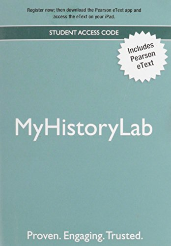 NEW MyHistoryLab with Pearson eText -- Valuepack Access Card