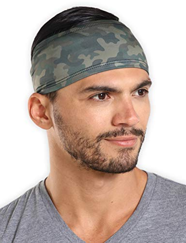 Mens Headband - Guys Sweatband & Sports Headband for Running, Working Out and Dominating Your Competition - Ultimate Performance Stretch & Moisture Wicking ()
