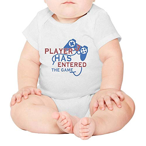 Player Young - Toda Mafalda Baby Bodysuit Player 3 Has Enter The Game Pregnancy Announcement White