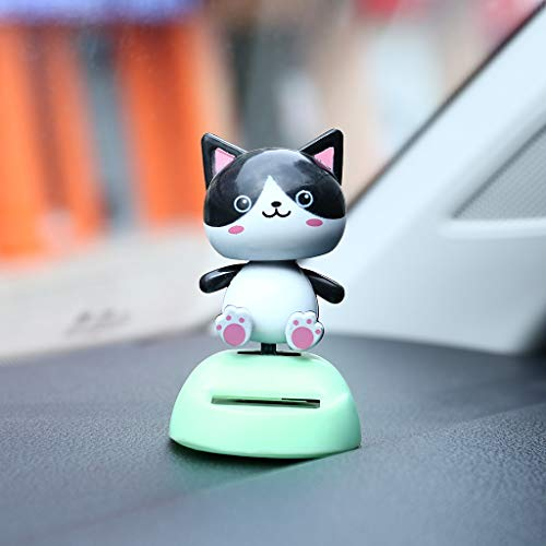 Glumes Eco-Friendly Bobblehead Solar Dancing Toy Decoration Gift Dancing Flowers Solar Toy Swinging Hawaii Girl Dancer Toy Great Holiday Car Dashboard Office Desk Home Decor Birthday Gift 1Pcs ()