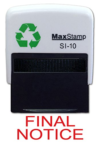 Maxstamp MAX1FIN Self-inking stamp.