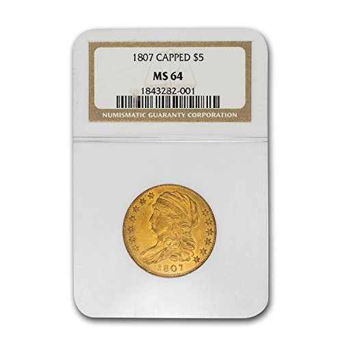 1807 $5 Capped Bust Gold Half Eagle MS-64 NGC G$5 MS-64 NGC
