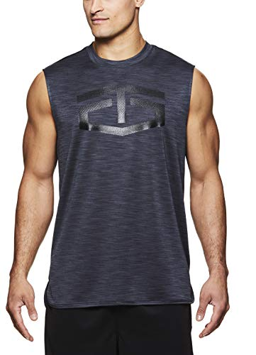 (TapouT Men's Muscle Tank Top - Sleeveless Workout & Training Activewear Shirt - Battle Muscle Ebony Heather, Large)