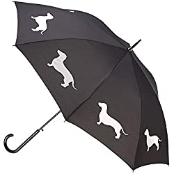 Dachshund Premium Umbrella (Black/White) By San Francisco Umbrella Co.