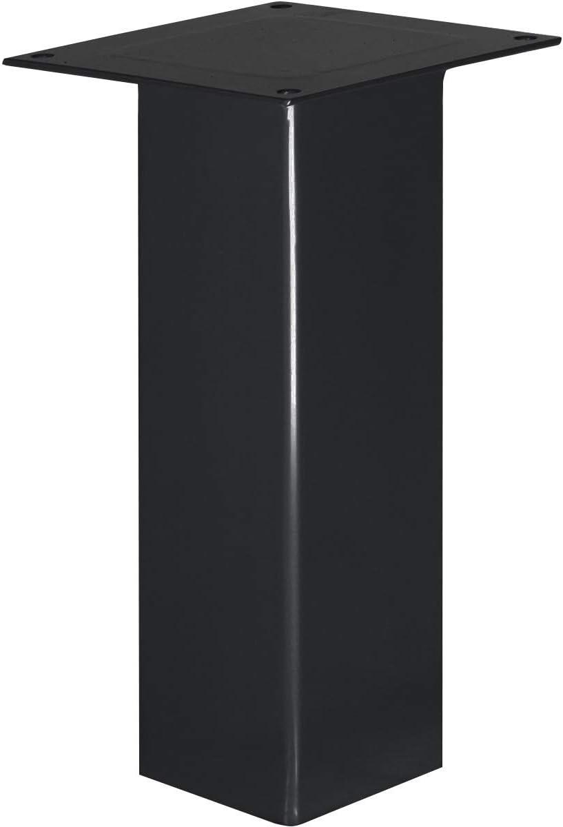 1 pz Acciaio Grezzo Verniciato HLT-14A-F-10-0000 HOLZBRINK Una Gamba da tavolo quadrata con profilo 40x40 mm Altezza: 10 cm