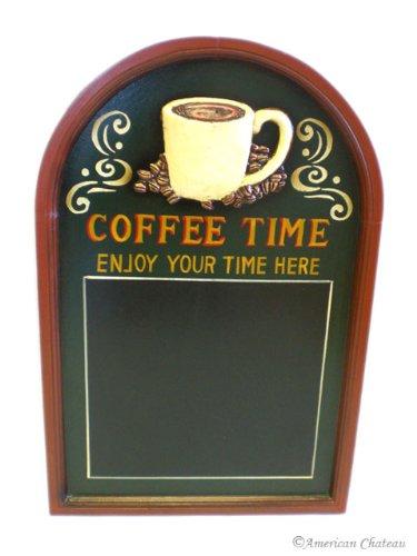 Wall Coffee Time Wooden Signs Chalkboard Kitchen Decor Menu Board Blackboard