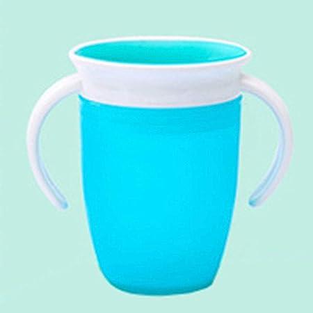 Lionina Tasse dapprentissage 360/° Miracle,Tasse imperm/éable pour b/éb/é,gobelet en Silicone Anti-/éclaboussures /étanche /à 360 degr/és pour b/éb/é et Enfant en Bas /âge