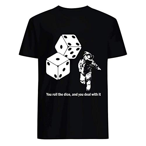 USA 80s TEE You Roll The Dice and You Deal with It Shirt Black -