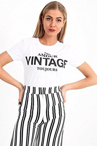 Momo Fashions amp;Ayat Ladies Slogan Vintage Imprim Amour FqFrdwH5